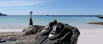 Frau Strand Schuhe