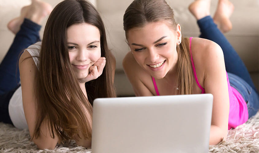 Frauen Laptop