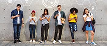 junge Menschen Vernetzung